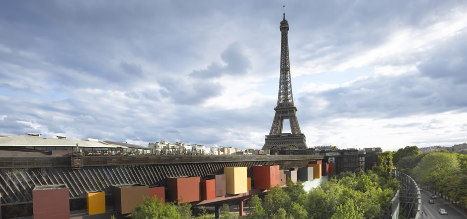 View of Paris from rooftop