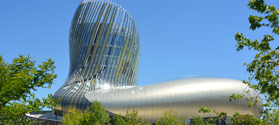 Cite du vin modern building in bordeaux